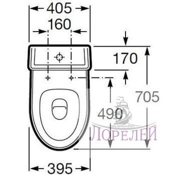 Напольный унитаз Roca America с сиденьем и бачком (39,5х70,5см ...